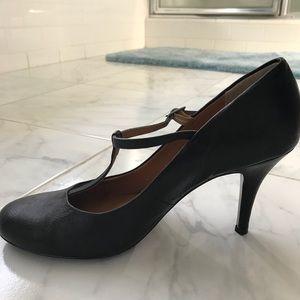 Black T-Strap high heels from Garnet Hill.